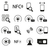 Mobile Network Icons Set Royalty Free Stock Image