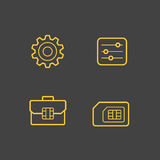 Mobile network operator icons Stock Photo