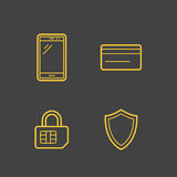 Mobile network operator icons Stock Photography