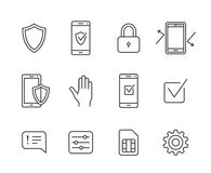 Mobile network operator icons Royalty Free Stock Images