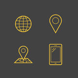 Mobile network operator icons Royalty Free Stock Photos
