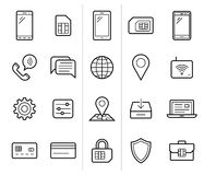 Mobile network operator icons Stock Images