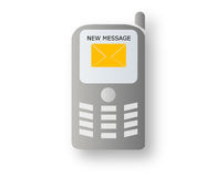 Mobile with new message Royalty Free Stock Photos