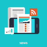 Mobile news Royalty Free Stock Images