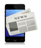 Mobile news concept Royalty Free Stock Images