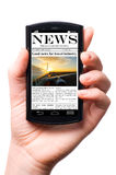 Mobile news Stock Images