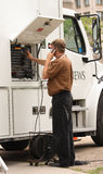 Mobile News Truck Stock Photography