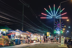 Mobile night market in Khao Lak, Thailand Royalty Free Stock Photos
