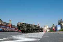 Mobile nuclear intercontinental ballistic missile Topol-M Royalty Free Stock Photos