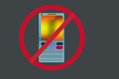 Mobile off icon & logo Royalty Free Stock Image