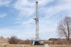 Mobile oil rig Royalty Free Stock Photo