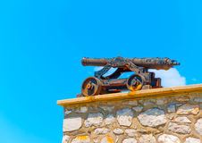 Mobile old Cannon Royalty Free Stock Images