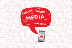 Mobile and online marketing concept. Stock Photos