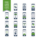 Mobile - online sport games icon set - 2 Royalty Free Stock Photos