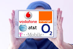 Mobile operator logos and brands Royalty Free Stock Image