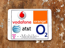 Mobile operator logos and icons Stock Images