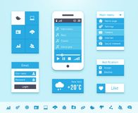Mobile OS UI interface elements royalty free illustration
