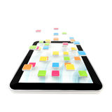 Mobile pad computer with applications Royalty Free Stock Photos