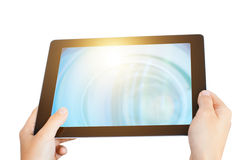 Mobile pad isolated Royalty Free Stock Image