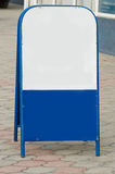 Mobile pavement sign. Royalty Free Stock Photos