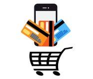 Mobile Pay vector Royalty Free Stock Photos