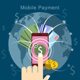 Mobile payment concept Stock Photography
