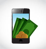 Mobile payment concept isolated illustration Royalty Free Stock Photos