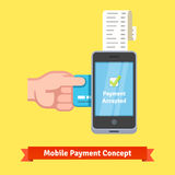 Mobile payment concept Stock Photos