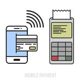 Mobile payment concept Royalty Free Stock Image