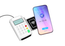 Mobile payment concept Stock Images
