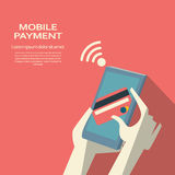 Mobile payment concept. Smartphone wireless money Stock Photos