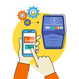 Mobile payment Stock Photography