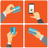 Mobile payment Stock Photos