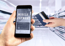 Mobile payment Royalty Free Stock Photo