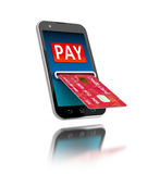 Mobile payment. vector illustration