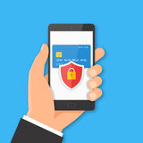 Mobile payment security concept Stock Photo