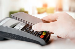 Mobile payment with smart phone Stock Photography