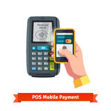 Mobile payment trough POS Royalty Free Stock Image