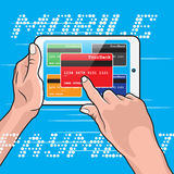 Mobile Payment using Tablet Royalty Free Stock Photo