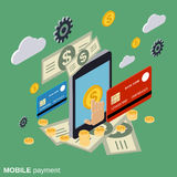 Mobile payment vector concept Royalty Free Stock Images