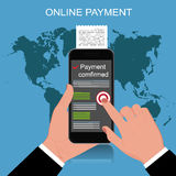 Mobile Payment, vector illustration Royalty Free Stock Photography