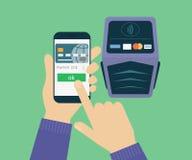 Mobile payment Stock Photos