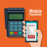 Mobile payments business icon. Illustration design Royalty Free Stock Photography