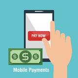 Mobile payments business icon. Illustration design Royalty Free Stock Image