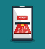 Mobile payments business icon. Illustration design Royalty Free Stock Photos