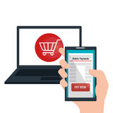 Mobile payments business icon. Illustration design Stock Image
