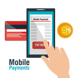 Mobile payments business icon. Illustration design Royalty Free Stock Photo