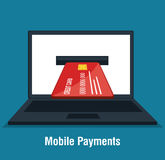 Mobile payments business icon. Illustration design Royalty Free Stock Images