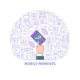 Mobile payments concept Royalty Free Stock Images