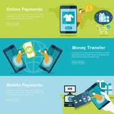 Mobile payments concept Stock Image